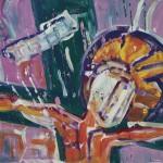 Christus pink 1999 / 50 x 70 / Acryl auf Malgrund / 50 x 70 cm
