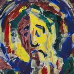 Christuskopf 1994 / Acryl auf Malgrund / 50 x 60 cm