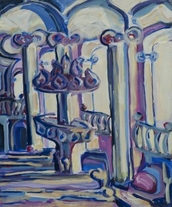 Ungeduldige Kanzel ca. 1995 / Acryl auf Leinwand / 50 x 60 cm