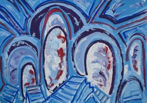 Dogmatik 2002 / Acryl auf Papier / 100 x 70 cm
