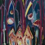 Trishagion 1995 / Acryl auf Papier / 50 x 70 cm