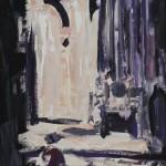 Morgenglanz 1996 / Acryl auf Papier / 50 x 70 cm