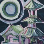 Mondscheintempel 2004 / Acryl auf Papier / 50 x 70 cm