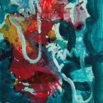Quo vadis 2002 / Acryl auf Papier / 50 x 60 cm