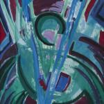 Incarnacion ca. 1996 / Acryl auf Karton / 50 x 60 cm