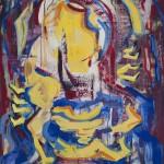 Madonna Amida ca. 2002 / Acryl auf Papier / 100 x 70 cm